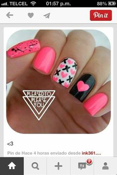 Best Valentines Day Nails for 2018 - 44 Heartwarming Nail Designs - Nail Art HQ Get Nails, Fancy Nails, Love Nails, Pink Nails, Fabulous Nails, Gorgeous Nails, Pretty Nails, Nail Art Vernis, Do It Yourself Nails