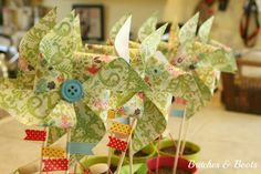 Britches & Boots : A Place I Call Home: Wild about Pinwheels! TUTORIAL