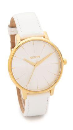Nixon Kensington Leather Watch Found on shopbop.com