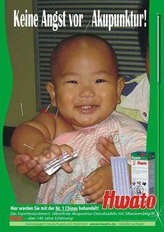 Keine Angst vor Akupunktur - Umfangreiche Infos zum Thema TCM mit Diashows, Baby Poster Akupunkturnadeln - Kinder Fotos