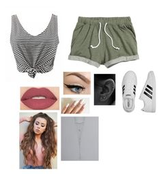 """""""The bad is good and gone."""" by sassy-stiles ❤ liked on Polyvore featuring adidas, Smashbox and BKE"""