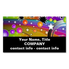 Business Card - BIG BANG BLACK HOLES POP ART. This great business card design is available for customization. All text style, colors, sizes can be modified to fit your needs. Just click the image to learn more!