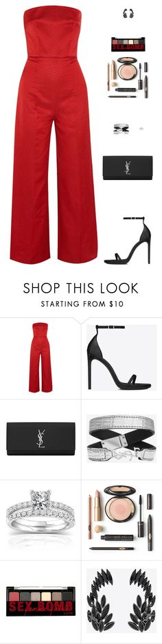 """Sin título #4925"" by mdmsb ❤ liked on Polyvore featuring Emilia Wickstead, Yves Saint Laurent, Annello and NYX"