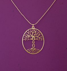 Tree of life with DNA trunk necklace -This would be a great graduation present