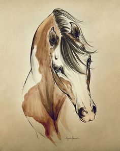 """Limited Edition """"Cowgirl"""" represents a unique pairing of watercolor and brush pen. Its distinct style is slightly reminiscent of the hand painted illustrations seen in old Western posters at the turn"""