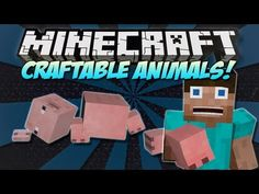Minecraft | CRAFTABLE ANIMALS  MOBS MOD! | Craft the ENDER DRAGON! [1.4.7]