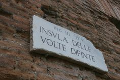 In Ostia, there were not houses for the rich, but apartments for the rich. (Insula = apartment)