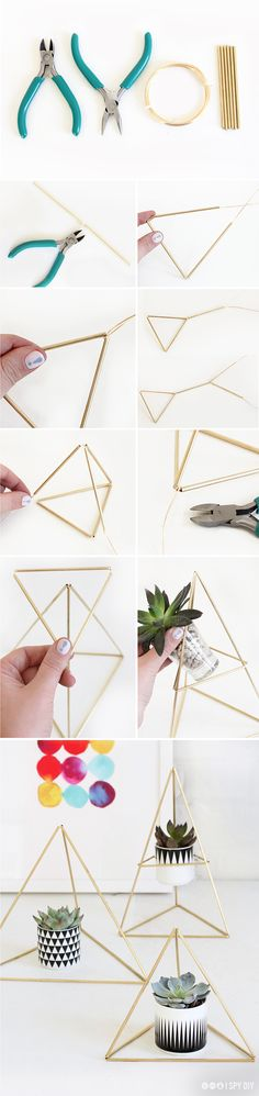 » MY DIY | Himmeli Triangle Succulent Holder