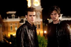 "Stefan and Damon in Season 1, Episode 2, ""Night of the Comet"". nice one of the salvatore bros"