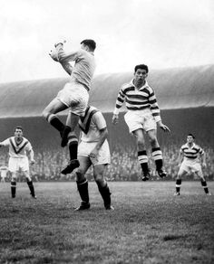 Celtic 1 Airdrie 2 in March 1959 at Parkhead. Action as Stevie Chalmers makes his Celtic debut Celtic Fc, 2 In, Football, Couple Photos, Couples, March, Action, Futbol, Group Action