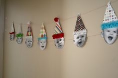 Birthday Baby Bunting....I'm thinking take current pics (for elementary teachers) and hang in classroom...cute!!