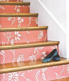 Decoração e reciclagem: Escada decorada!