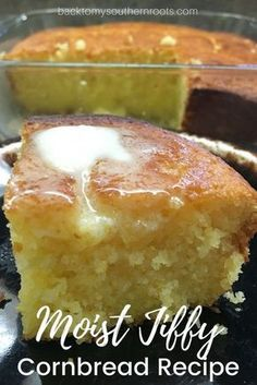 This is a recipe for a moist, easy, and delicious Jiffy cornbread recipe. The cornbread is a sweet and savory side dish that only takes a few minutes to make. #cornbread #easy #moist #savory #sweet #sidedish #Jiffy #muffins