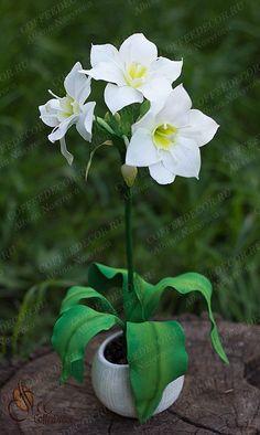 Цветы из фоамирана лилия эухарис