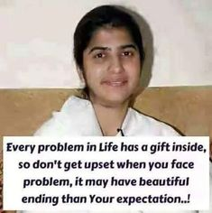 Brahma Kumari Sister Shivani is one of the most respected and versatile spiritual, motivational and inspirational speaker.Here you can see Sister Shivani inspirational quotes, success quotes, positive quotes etc. Self Healing Quotes, Spiritual Quotes, Wisdom Quotes, Positive Quotes, Quotable Quotes, Qoutes, Find Quotes, Best Quotes, Bk Shivani Quotes