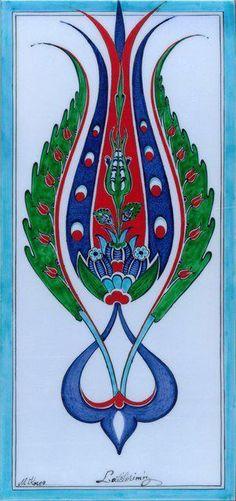 Mehmet Koçer Craft Patterns, Tile Patterns, Pattern Art, Turkish Tiles, Turkish Art, Islamic Tiles, Islamic Art, Arabesque, Ceramic Tile Art