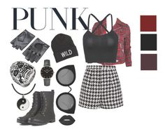 """Punk"" by coloredcashton on Polyvore featuring Emma Cook, American Eagle Outfitters, Quay, CLUSE, West Coast Jewelry, Carolina Glamour Collection and Lime Crime"