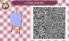 Animal Crossing QR Code blog  Christmas snow & present, candle design set Tile#1