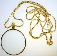 Black Friday SE MG2015G 2-Inch Necklace Magnifier with 36-Inch Gold Chain from SE