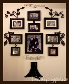 My friend has this but I want it too. Family Tree Photo, Family Tree Wall, Photo Tree, Wall Ideas, Room Ideas, Photo Arrangement, Wall Galleries, Local Stores, Phoenix Homes