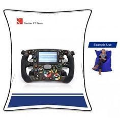 "Sauber F1 Team - Sauber F1 Team Junior Beanbag ""Steering Wheel"" - Webshop Bean Bag, Nintendo Consoles, F1, Learning, Passion, Studying, Bean Bags, Teaching, Education"