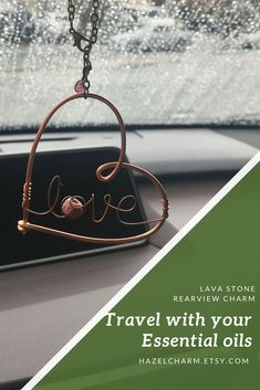 Personal Care Gifts Using Essential Oils Car Accessories For Guys, Rear View Mirror Accessories, Essential Oil Jewelry, Essential Oils, Car Essentials, Aromatherapy Jewelry, Essential Oil Diffuser Blends, Diy For Girls, Lava