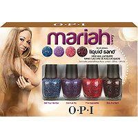 OPI - Mariah Carey Liquid Sand Mini Nail Set #ultabeauty I'd get it just to try some liquid sand polishes.