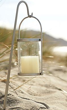 Cute lantern / candle idea for a night at the beach - especially if fires aren't allowed on the beach.