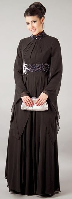 Latest Abaya Fashion in Dubai | Abaya from UAE | Dubai Abaya Designs for 2014-15 | New Emirate Abaya ...