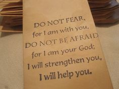 Distressed Gift Tags / Religion / Do not fear for I by TeatroRosso, $4.99