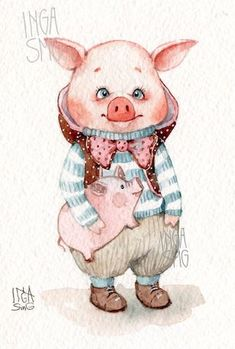 Pigs – 554 photos – My Crafter Pinging Tout Rose, Pig Illustration, Pig Art, This Little Piggy, Cute Pigs, Cute Monsters, Cute Images, Cute Characters, Cute Art