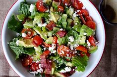 BLT Salad Bowl #paleo #lunch #recipes http://greatist.com/eat/paleo-lunch-recipes