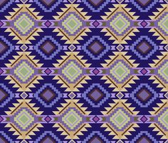 Out West 3 fabric by ©_lana_gordon_rast_ on Spoonflower - custom fabric #Western, Southwest, purple, fabric, wallpaper, giftwrap,