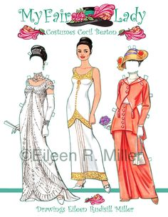 My Fair Lady Paper Doll by PaperDollsbyERMiller on Etsy, $12.00 I had this set and wore it out!  I may have to get it again!