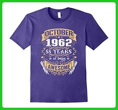 Mens October 1962 - 55th Birthday T-shirt Medium Purple - Birthday shirts (*Amazon Partner-Link)