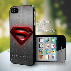 Superman Man of Steel Logo - design for iPhone 4 or 4S case