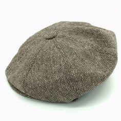 35925712668 JAXON Cabbie Newsboy Hat Cap Medium Gothic Wool Blend Tweed Brown Beige  Snap  Jaxonhat