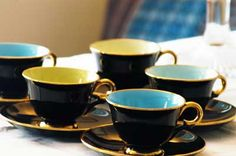 1960s Stavangerflint tea set Delicate, but oh so stylish, Scandi design. From theBrocante.co.uk Cooling Racks, Stavanger, Tea Set, Cup And Saucer, Scandinavian, Pottery, Mugs, Tableware, Norway