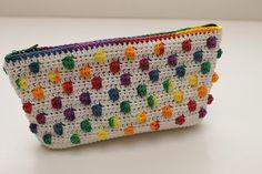 Cute Bag ~ Free Crochet Rainbow Drops Pattern