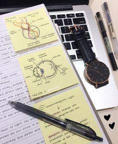 Post-It Notes are always so helpful! - - Post-It Notes are always so helpful! Study notes Haftnotizen sind immer so hilfreich! School Organization Notes, Study Organization, College Notes, School Notes, Med School, High School, Lerntyp Test, Pretty Notes, Beautiful Notes