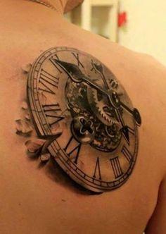 Tatuaż zegara 3D