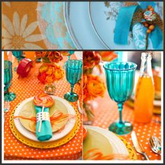 Tangerine Turquoise Colour Board   http://pearledkisslookdotcom.files.wordpress.com/2012/07/orange-and-turquoise-wedding-2.jpg?w=1024