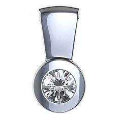 Diamantanhänger 0.25 Karat (F/VS2) in 585er Weißgold