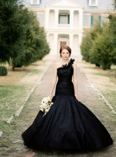 Beautiful black wedding gown!