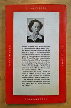 The back side of Policy for the West by Barbara Ward. A Penguin Special. First published 1951.