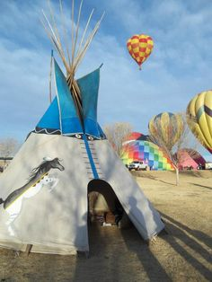 tipi camp ideas, balloon rides Tipi by The Southwestern Touch Artwork by Steve Honeycutt and  Christa Cook