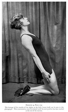 Daily exercises, scanned from Modern Beauty Culture by Maria Verni, 1933 Contemporary Dance Moves, Pin Up Pictures, Vintage Pictures, Joseph Pilates, Workout Pictures, Lets Dance, Health Advice, Aerobics, Sports Women