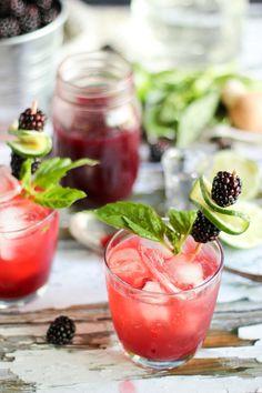 #DrinkTheSummer | Lime Blackberry Shrub Drinking Vinegar | Summer Cocktail - She Eats