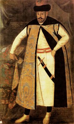 Portrait of Krzysztof Zbaraski, Master of the Stables of the Crown in delia coat made from Turkish fabric by Anonymous, 1620s (PD-art/old), Lviv National Art Gallery, Zbaraski served as Commonwealth's ambassador to the Ottoman Empire from 1622 to 1624