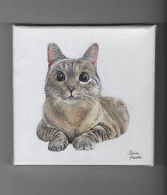 Nala the cat, acrylic on canvas   by: Vânia Azevedo